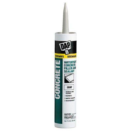 Dap 18096 10 1 Oz Concrete Waterproof Filler Sealant Gray Concrete Filler Concrete