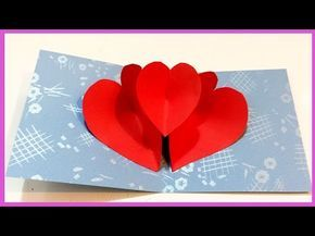 Heart Pop Up Card How To Make Heart Pop Up Card Bee Diy Youtube Diy Valentines Cards Heart Pop Up Card Pop Up Valentine Cards