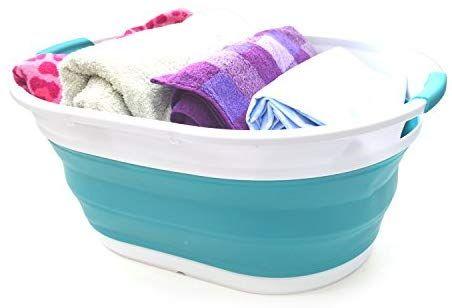 Amazon Com Sammart Collapsible Plastic Laundry Basket Oval Tub