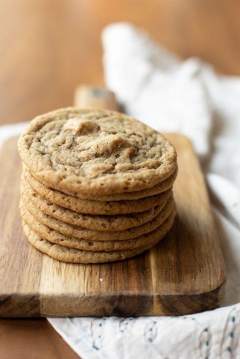 Stack of Tahini Blond Chocolate Cookies