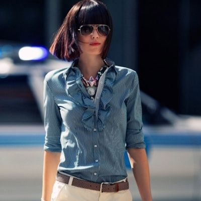 If you have straight short hair, and want to change style, we highly recommend these short straight hairstyles with bangs, and get a new charming look. Adding some little highlights to your hair and create a different beautiful look.