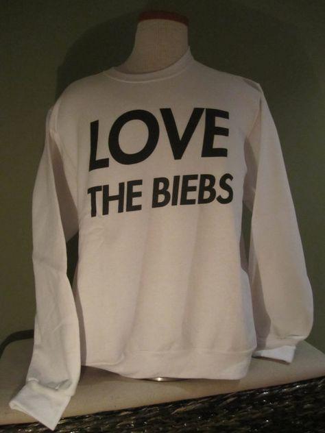 LOVE The Biebs Sweatshirt - Justin Bieber Fans Belieb Believe 009