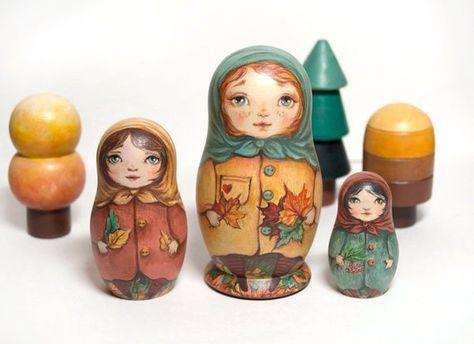 Jew with Violin Nesting Dolls Russian Doll Matryoshka Hand Painted Russia 5 pcs