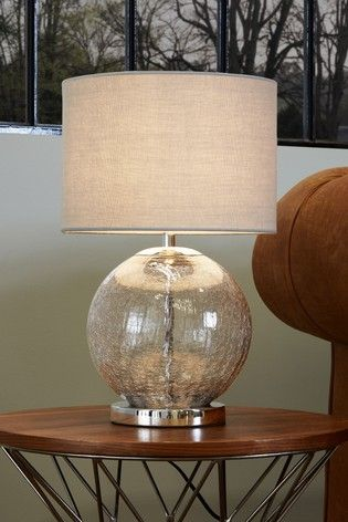 CRACKLE GLASS BALL Touch Table Lamp