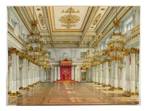 St George S Hall Winter Palace Giclee Print Konstantin Andreyevich Ukhtomsky Art Com In 2020 Winter Palace St Georges Hall Palace Interior
