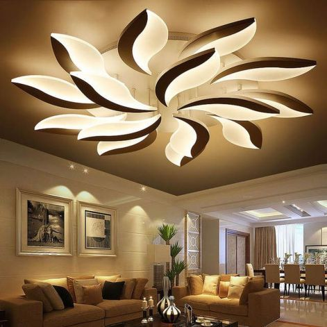 Get Beautiful Living Room Ceiling Lights Design Ideas To Give Your Living Room A Perfe Living Room Ceiling Ceiling Lights Living Room Modern Led Ceiling Lights