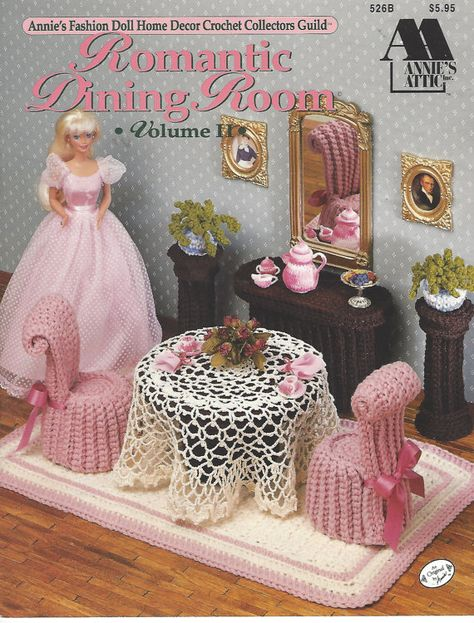 90s Bedroom Jazz Crochet Doll Furniture for Barbie and Doll Houses Annie/'s Fashion Doll Home Decor Crochet Collectors Guild 541B