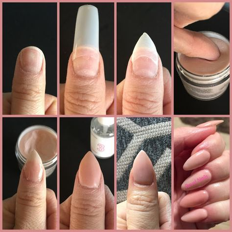 How To Do Dip Powder Nail Application Powder Nails Diy Acrylic Nails Acrylic Nails At Home