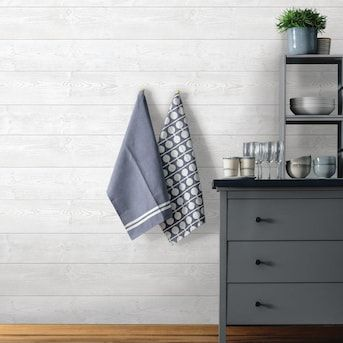 Transform Transform White Wood Plank Peel And Stick Wallpaper Lowes Com In 2021 Peel And Stick Wallpaper Peel And Stick Shiplap White Wood Paneling