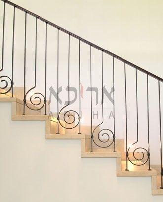 barandilla de Seguridad Interior para Ancianos barandilla Antideslizante Oro Color: Dorado, tama/ño:80 cm YERT- Barandilla Baranda de Escalera de Hierro Forjado de Estilo Industrial