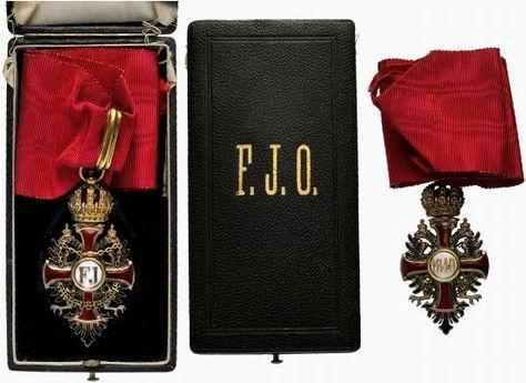 Franz Joseph Order, Commander's Cross neck badge, 1903, Vinc Mayer's Sohne, Vienna.