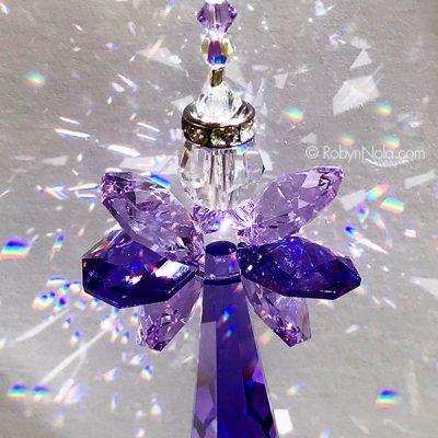 Flower Sun Catcher Healing Crystal Rainbow Catcher Crystal Sun Catcher