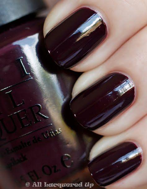 27+ trendy nails dark polish opi