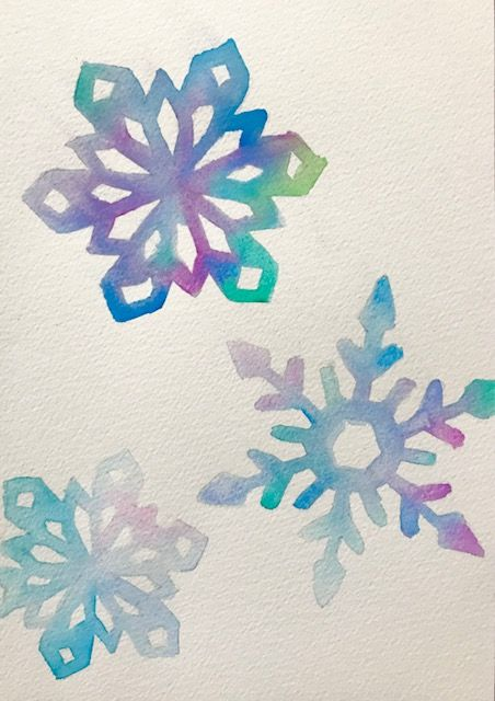 You Can Make These Watercolor Snowflake Cards In A Weekend
