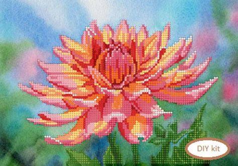 DIY bead embroidery kit,Beaded wall art