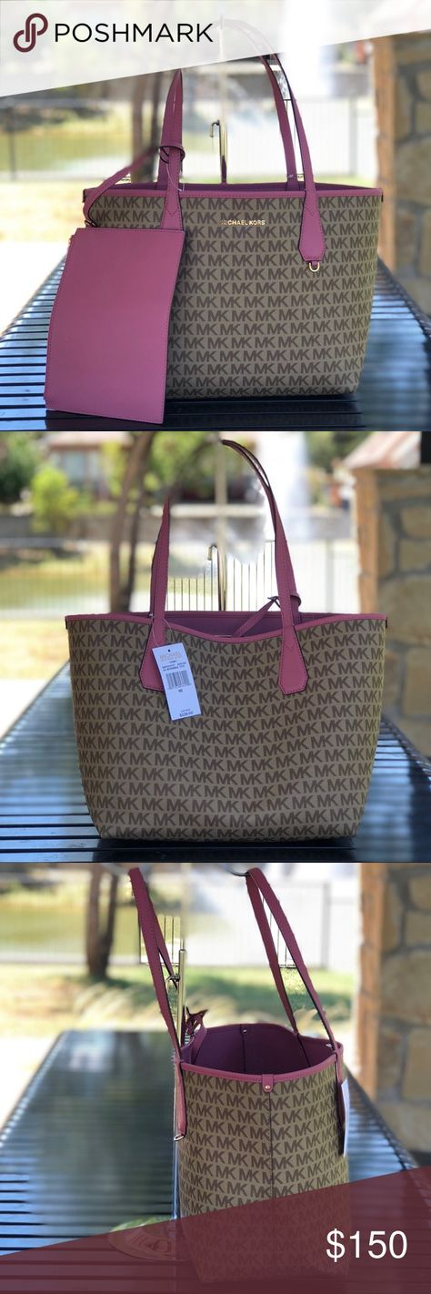b6af04a2f6fdf7 Michael Kors Candy Reversible Tote Bag w/ Pouch New With Tags, Authentic Michael  Kors Large Reversible Tote Bag w/ Pouch Measurements: 12