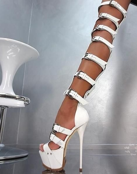 Proizvod By Justin Zeit High Heel Boots Knee White Shoes Women Party Dress Shoes