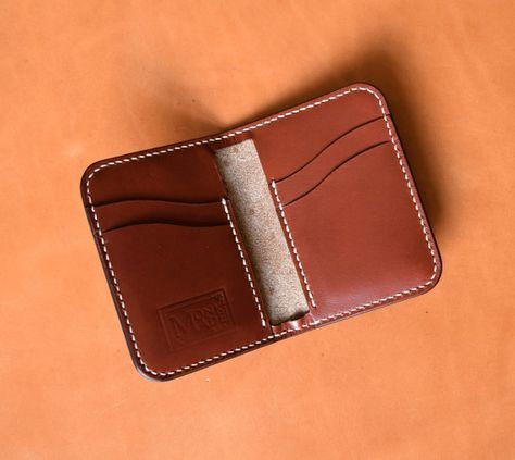 Burgundy Leather Minimalist Wallet Leather Card Holder Slim Wallet Card Case Front Pocket Handmade Made In Usa Minimalist Leather Wallet Leather Wallet Mens Minimalist Wallet
