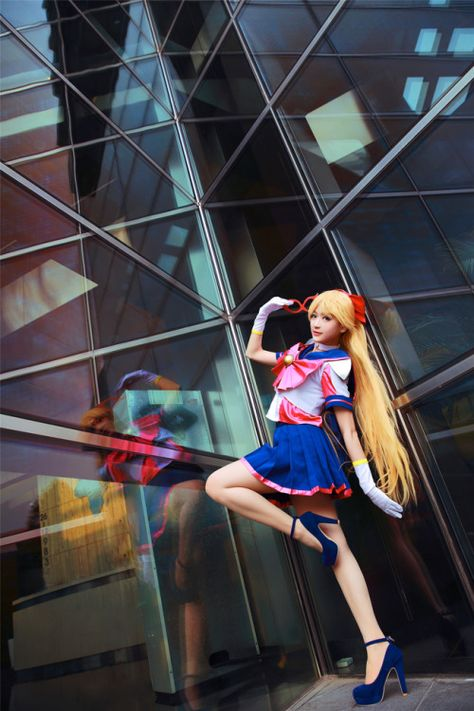 Sailor V--sailor-moon-rei: Cosplay by 羽茵 - COSPLAY IS BAEEE! Tap the pin now to grab yourself some BAE Cosplay leggings and shirts! From super hero fitness leggings, super hero fitness shirts, and so much more that wil make you say YASSS!