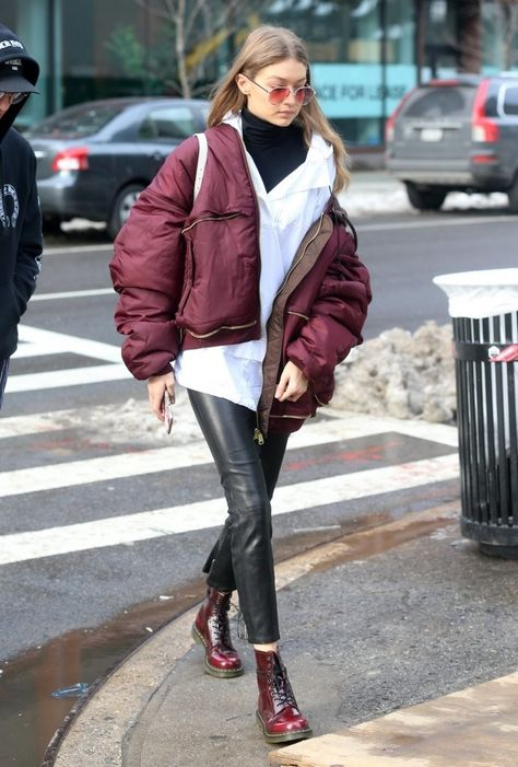 Gigi Hadid Shares Throwback Picture From This Year's Victoria's Secret Fashion Show: Photo Gigi Hadid tries to avoid the snow as she crosses the street on Saturday afternoon (February in New York City.