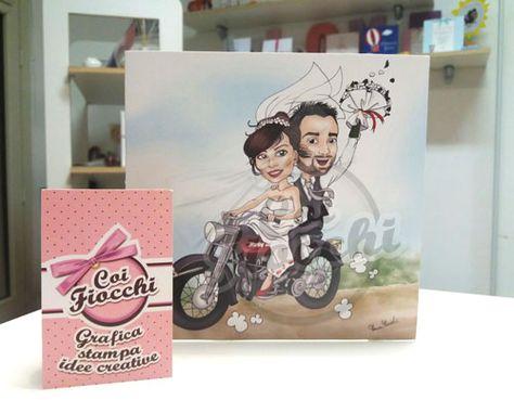 Partecipazioni Matrimonio Harley.Partecipazioni Di Matrimonio Con Le Caricature Sposi Piu Originali