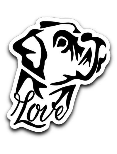 Boxer Love Decal Two Colors Boxer Dogs Boxer Love Boxer Puppies
