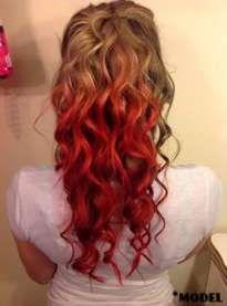 65 Ideas For Hair Red Blonde Dip Dye In 2019 Dyed Red Hair Dip