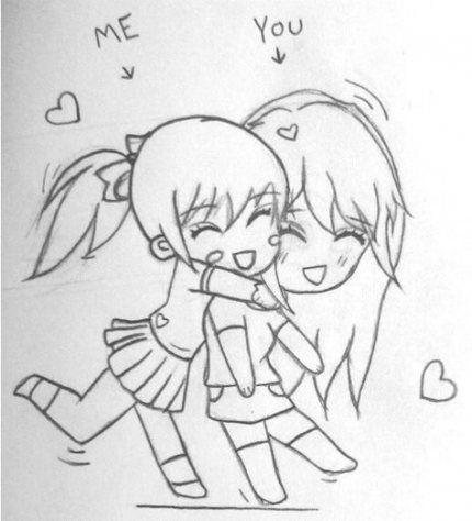 Super Drawing Kawaii Girl Friends Ideas #drawing