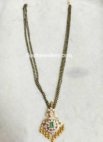 Black beads chain with diamond pendant photo jewllery black beads chain with diamond pendant photo jewllery pinterest diamond pendant chains and pendants mozeypictures Gallery
