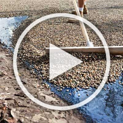 Heres How Using A Chip Seal Paving Technique You Can Get That Classic Gravel Driveway Look Without The Annual Raki In 2020 Garden Design Garden Paths Living Room Diy
