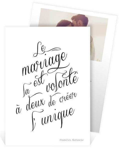 Faire Part Mariage Romantique Avec Cette Belle Citation Le