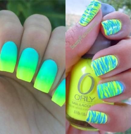Nails Summer Neon Color Combos 50 Ideas Nails With Images