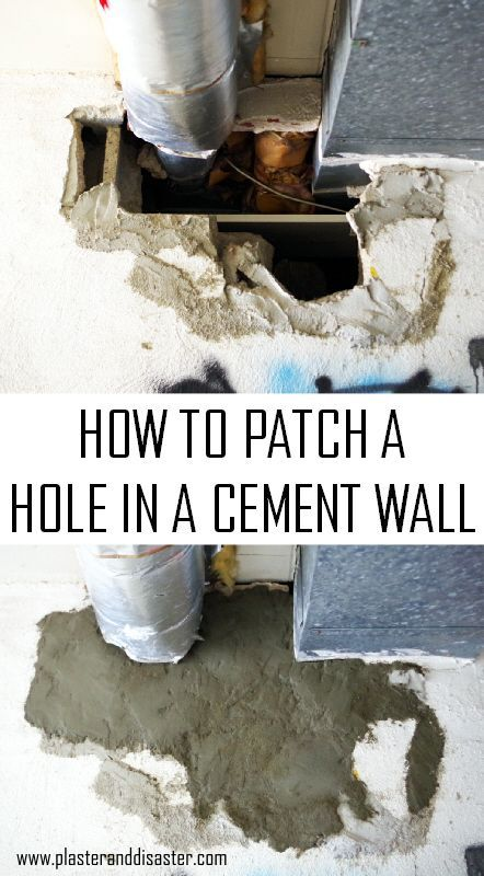 How To Fix A Big Hole In A Cement Wall Plaster Disaster Cement Walls Concrete Block Walls Plaster Walls