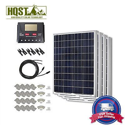 400w Solar Panel 400 Watts Poly Kit 12v Rv Boat Off Grid System W O Tray Cable 12v Solar Panel Solar Panels Solar Panel Cost
