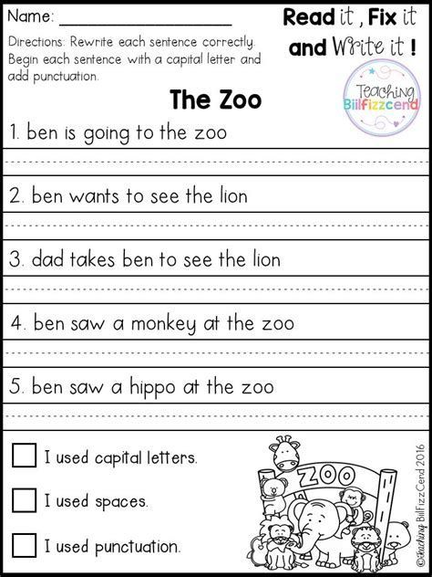 Best 25 Simple Sentences Worksheet 1st Grade Writing Worksheets 1st Grade Writing Kindergarten Writing