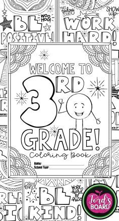 This 3rd Grade Back To School Coloring Book Is Designed To Welcome Your New Students With Sim School Coloring Pages Back To School Activities School Activities