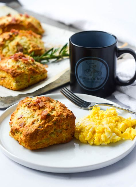 These easy bacon and rosemary drop biscuits are simple to make and are so tasty. They can be warm on your table in under 20 minutes!