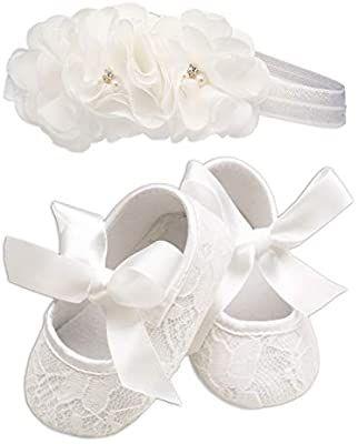 Lace Baptism Christening Shoe