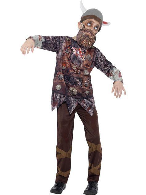 Disfraz de vikingo zombie niño Halloween: Este disfraz de zombie vikingo para…