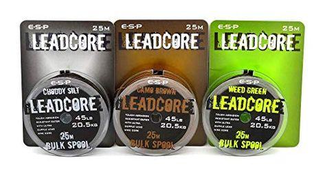 ESP Leadcore 25 Metre Bulk Spool ALL COLOURS