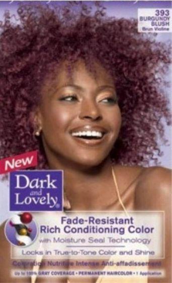 Dark And Lovely Burgundy Blush 393 Blush Lovely Dark