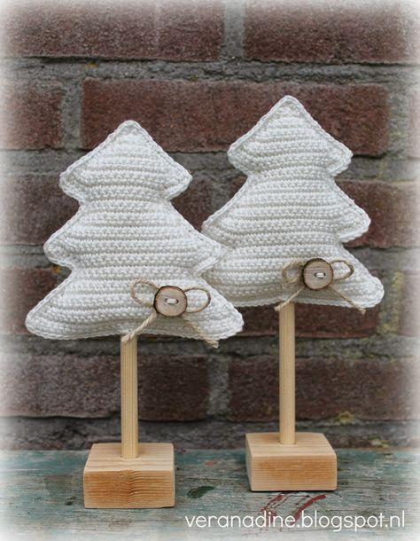 mit link zur freien Anleitung: Weihnachtsbäume
