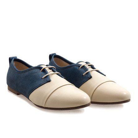 Bezowe Jazzowki Polbuty Oxford 2 Bezowy Granatowe Dress Shoes Men Oxford Shoes Shoes