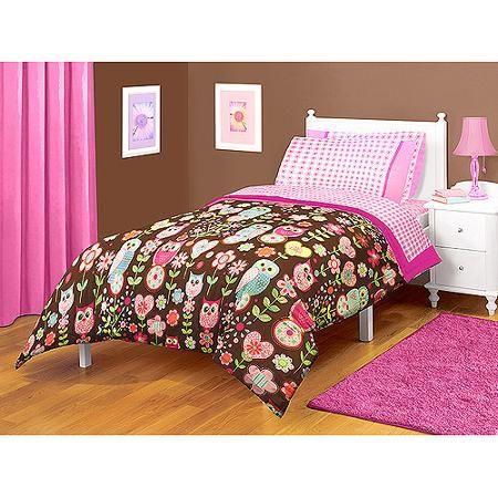 Microfiber Bedding Owl Bedroom Decor, Brown Owl Bedding