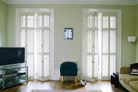 Indoor French Door Shutters Interior