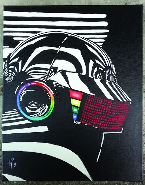 "Electronic Music Star 56/""x24/"" Poster 30 Daft Punk"