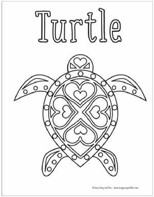 Summer Coloring Pages Free Printable Easy Peasy And Fun Summer Coloring Pages Turtle Coloring Pages Turtle Quilt