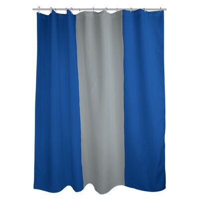 East Urban Home St Louis Striped Shower Curtain Color Royal Blue Gray Royal Blue Pvc Liner Included Yes In 2020 Striped Shower Curtains Colorful Curtains Curtains