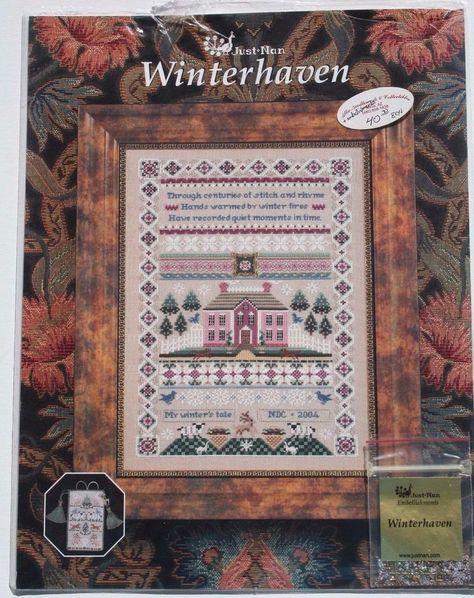 Just Nan Wonderful Counted Cross Stitch Chart+Embellishments-You Choose! SALE