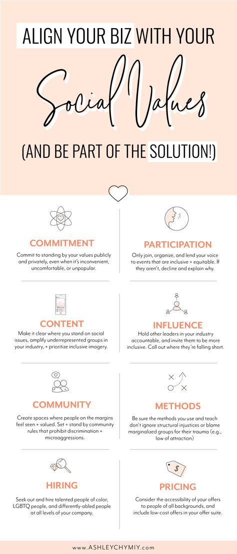 8 main areas to start aligning your business with your social values!